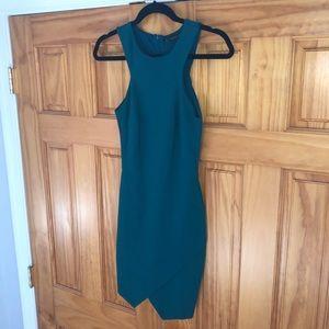 Zara TRF Teal Mini Dress